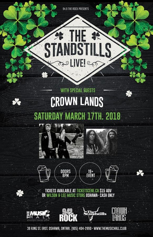 Rock St. Patrick's Day with The Standstills & Crown Lands